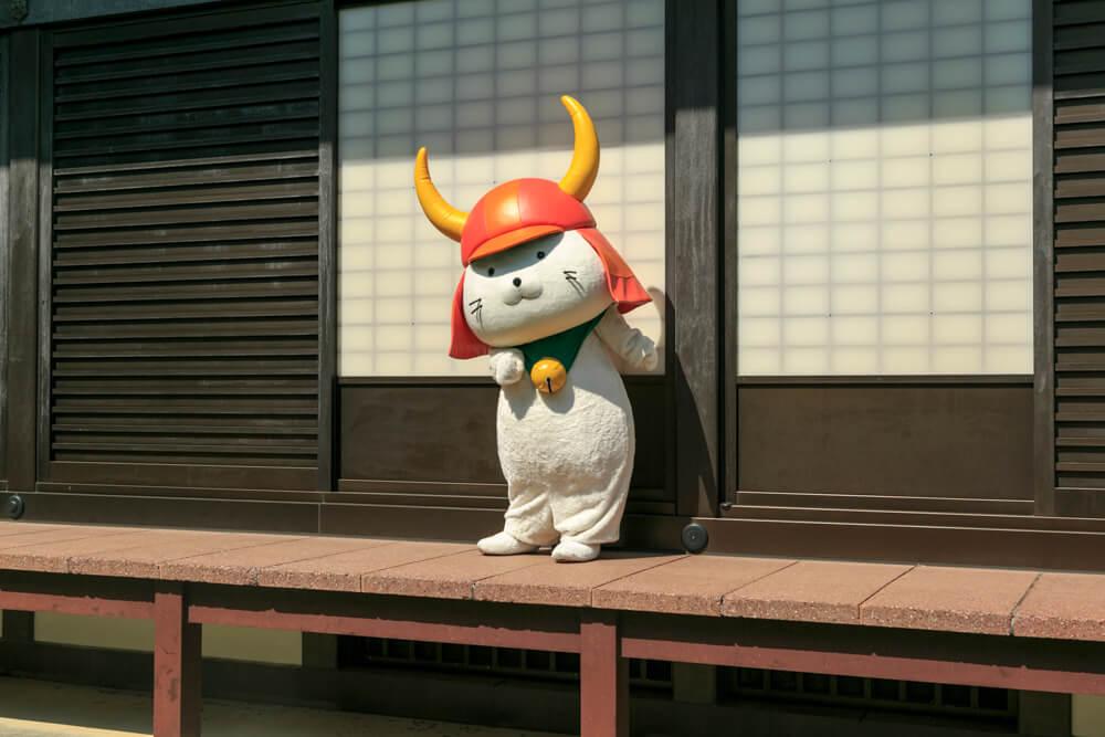 彦根城のご当地キャラ・ひこにゃんの写真
