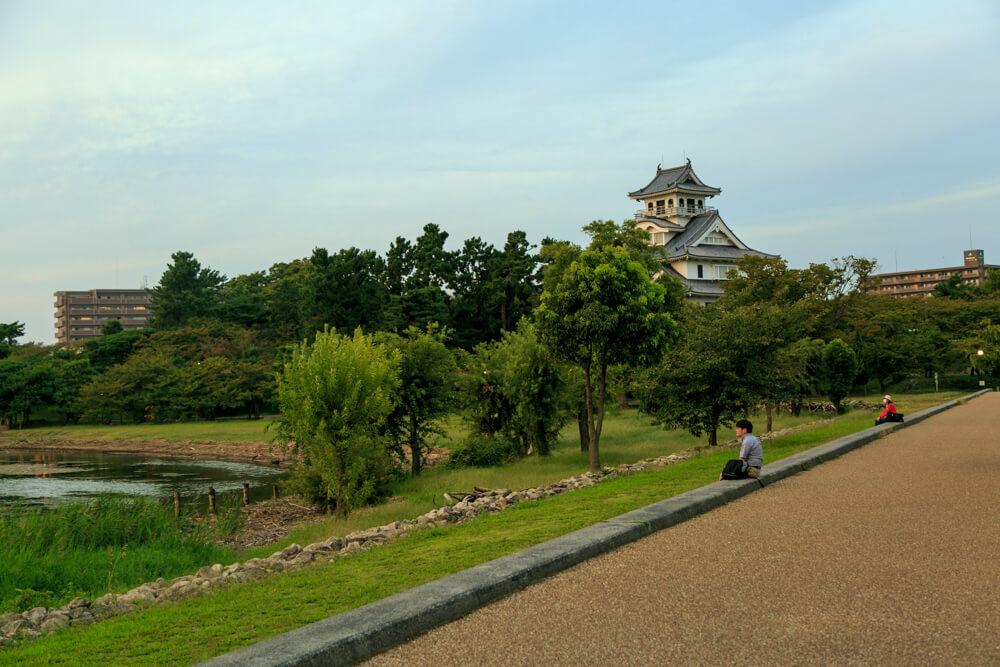 豊公園と長浜城の写真