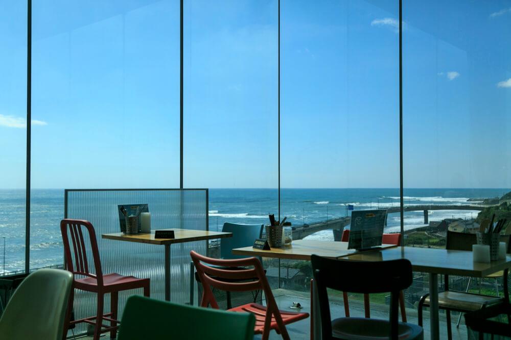 シーバーズカフェのテーブルー席の写真