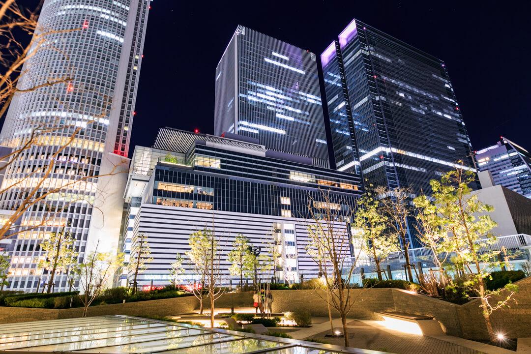 大名古屋ビルディングスカイガーデンから撮影した高層ビル群の写真