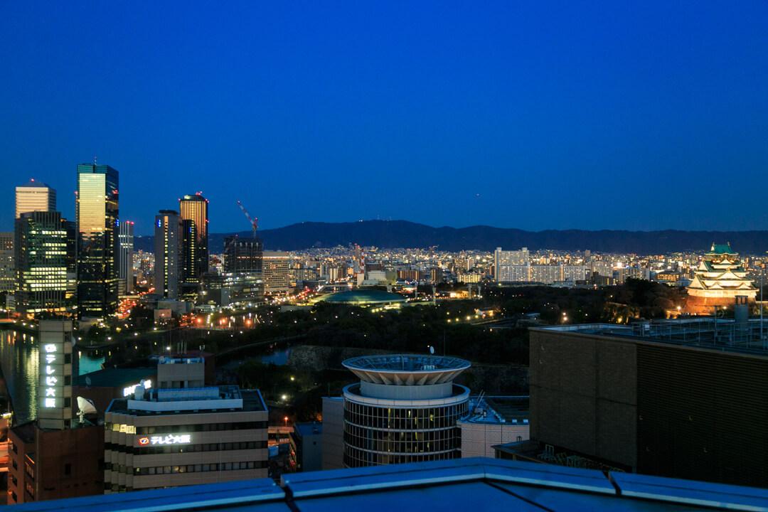 OMMビルスカイガーデンから撮影した大阪城