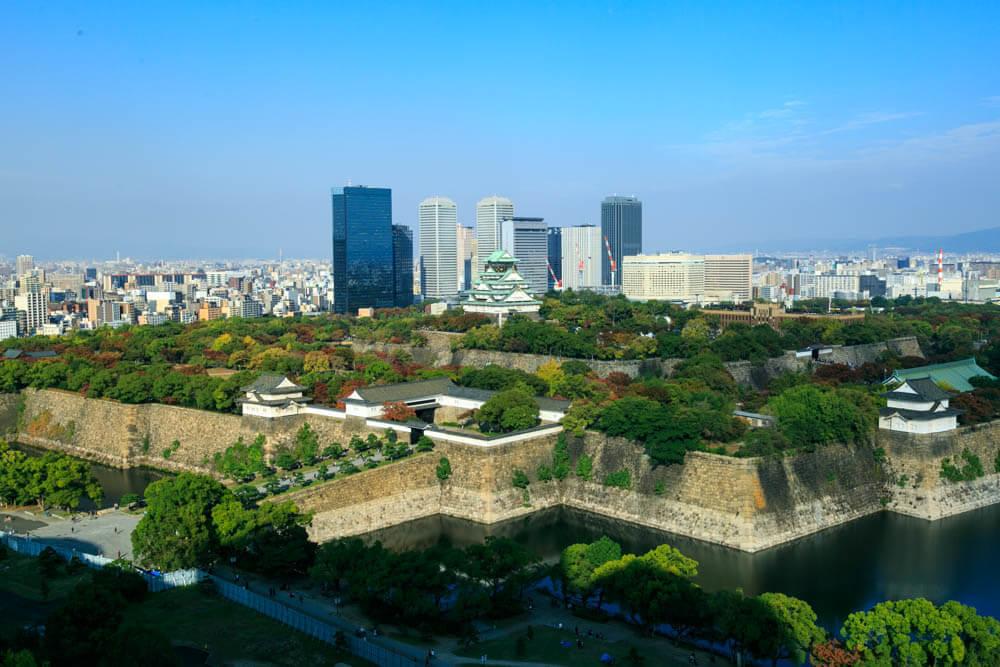 大阪歴史博物館から撮影した大阪城
