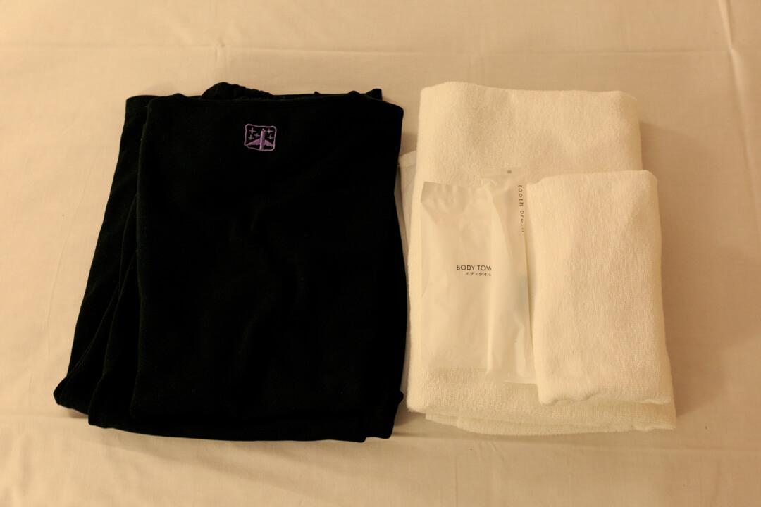ファーストキャビンのパジャマ(キャビンウェア)の写真