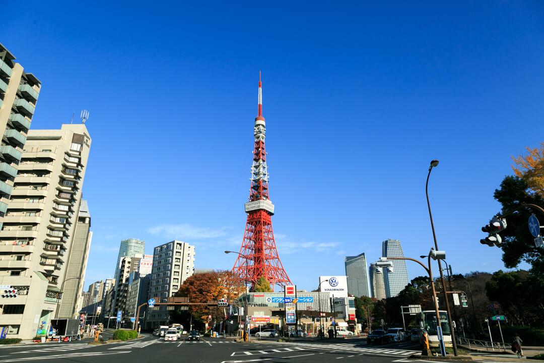 赤羽交差点から撮影した東京タワー