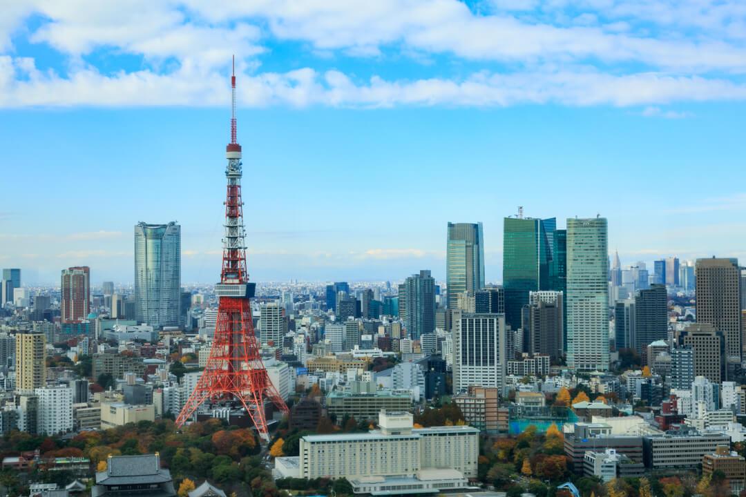 世界貿易センタービル(シーサイドトップ)から撮影した東京タワーの写真