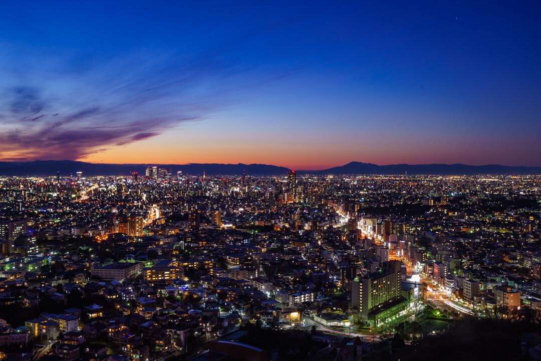 東山スカイタワーの夜景の写真