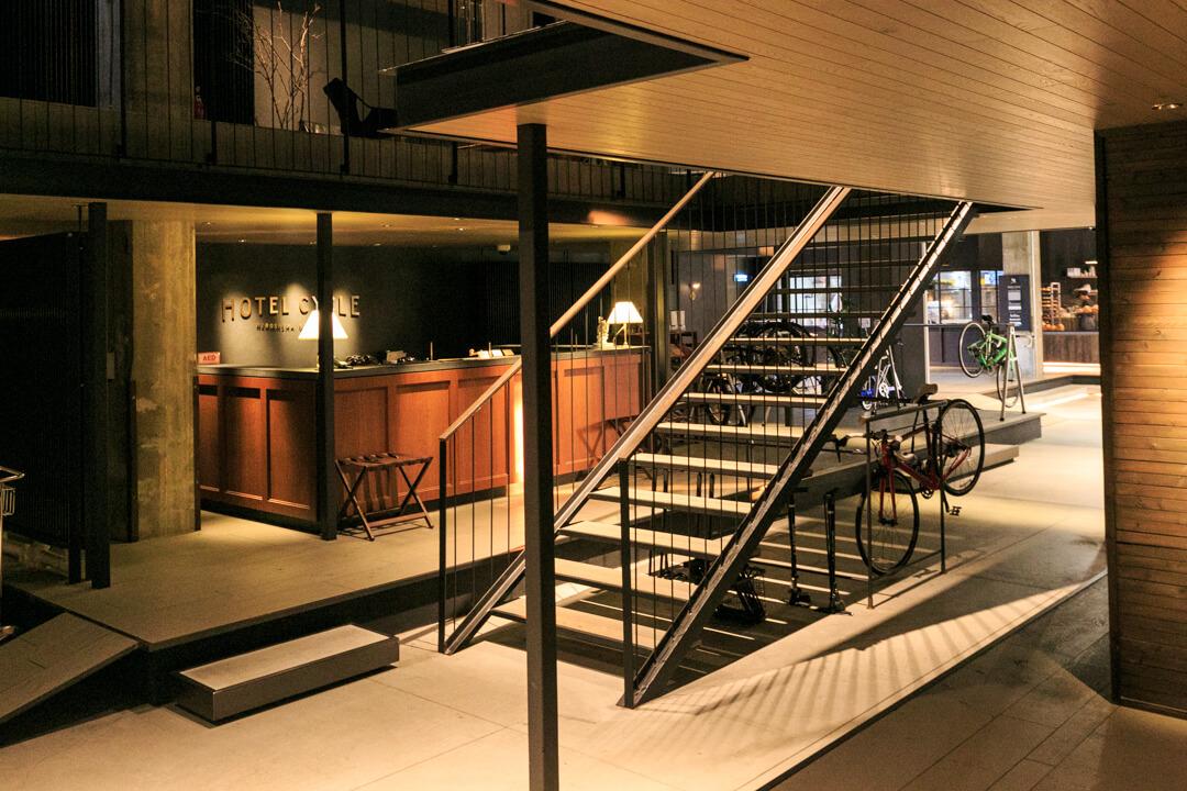 HOTEL-CYCLEの2階から撮影した写真