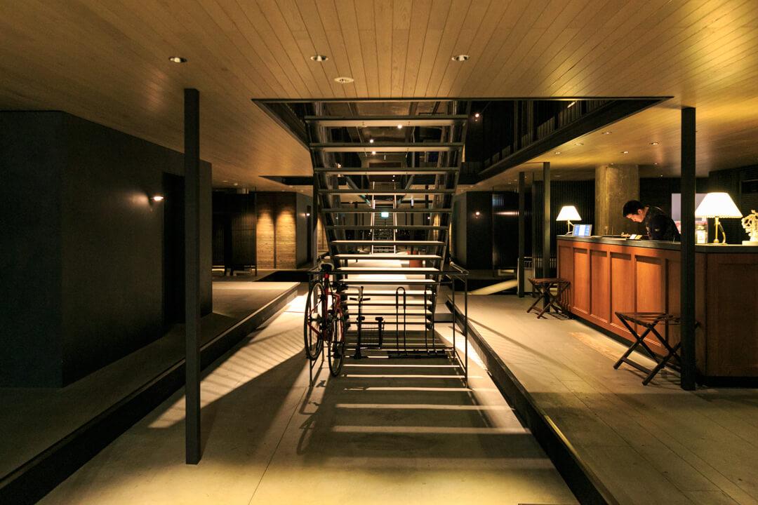 尾道U2にある宿泊施設hotel cycleの外観の写真