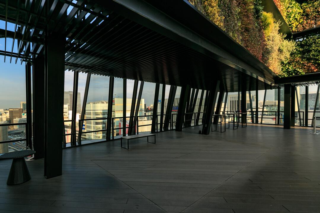 東急プラザ銀座屋上庭園のキリコテラスの写真