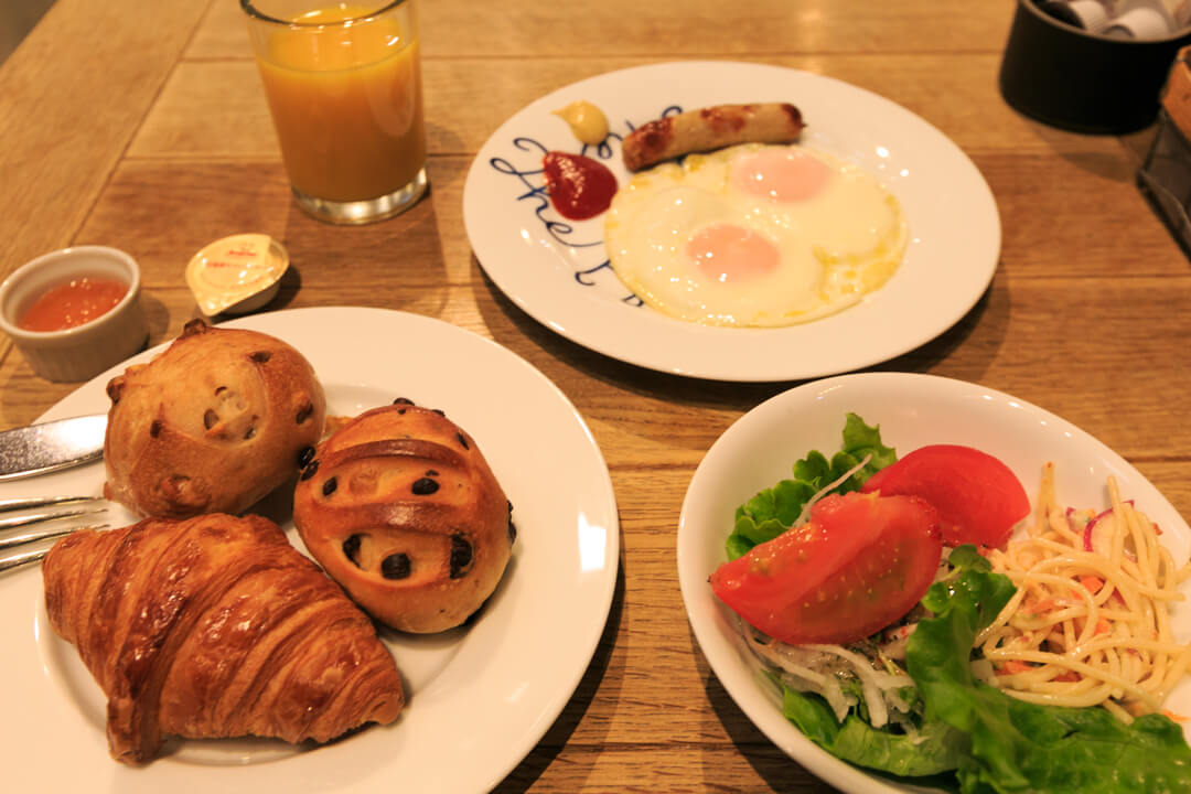 尾道U2での朝食の様子を撮影した写真