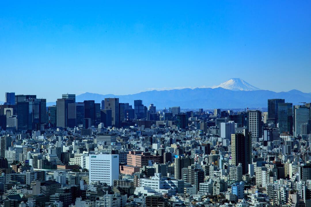 イーストタワーから撮影した富士山の写真