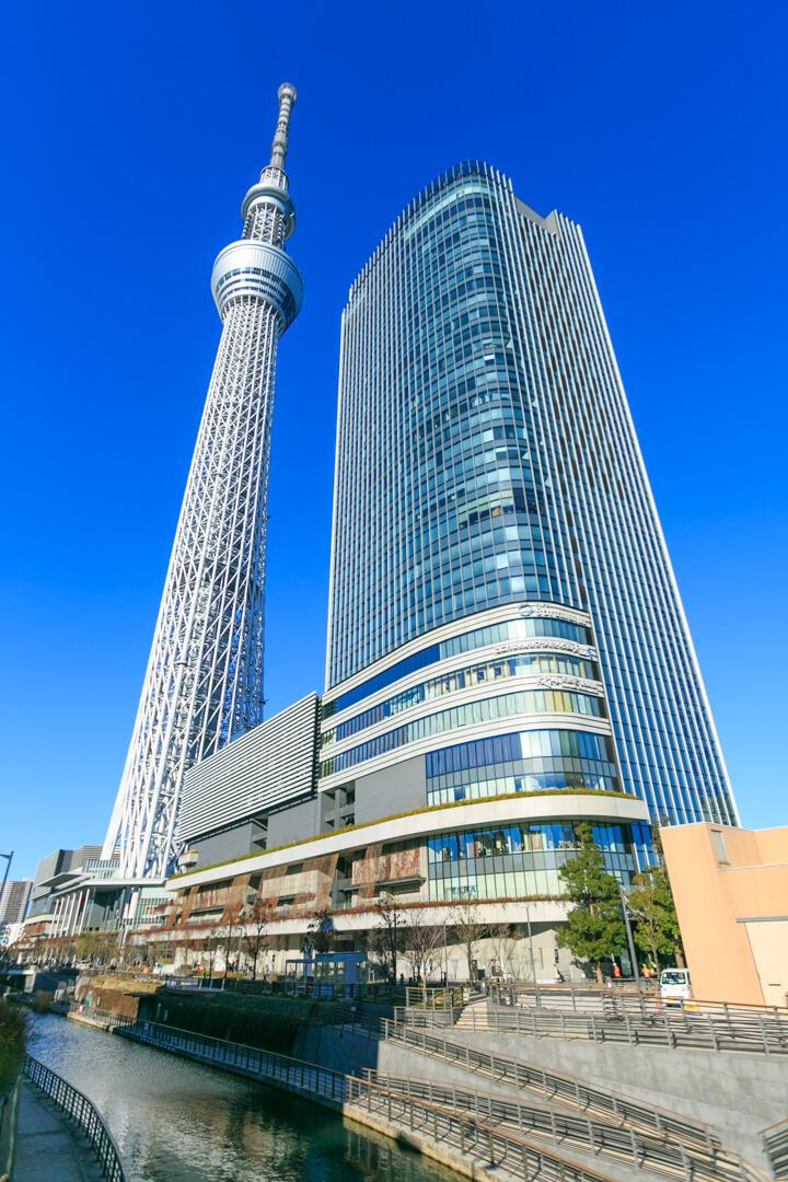 京成橋から撮影した東京スカイツリーの写真