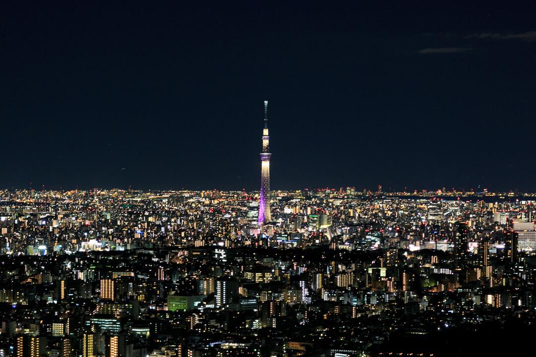 サンシャイン60から撮影した東京スカイツリーの写真