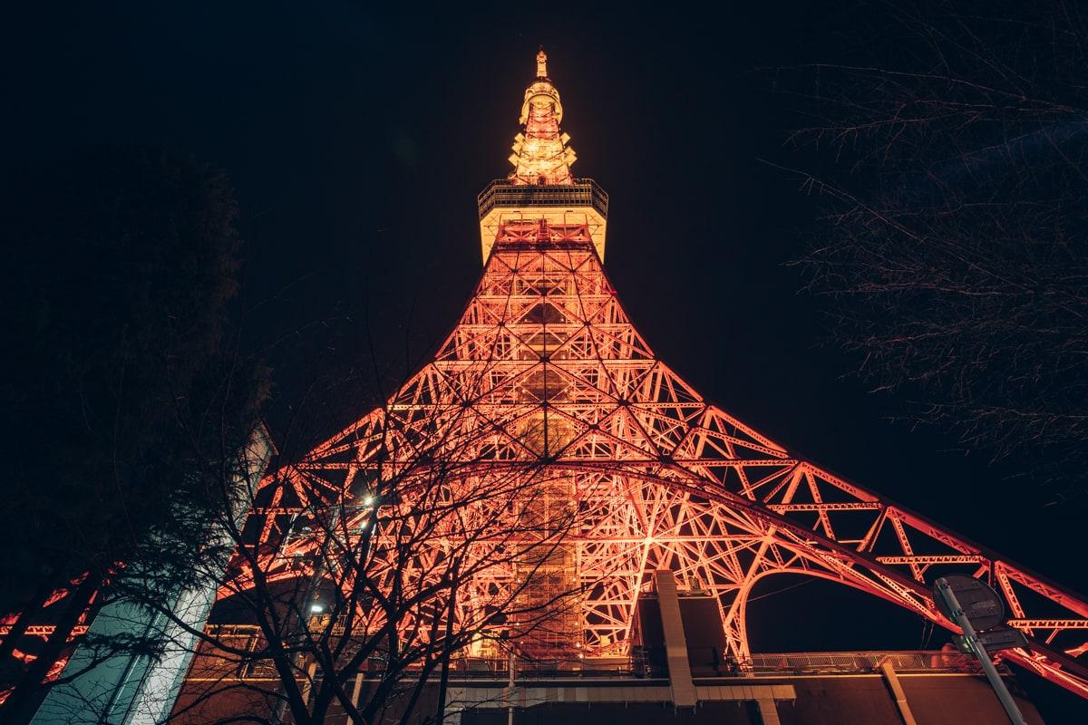 元旦の東京タワーの写真