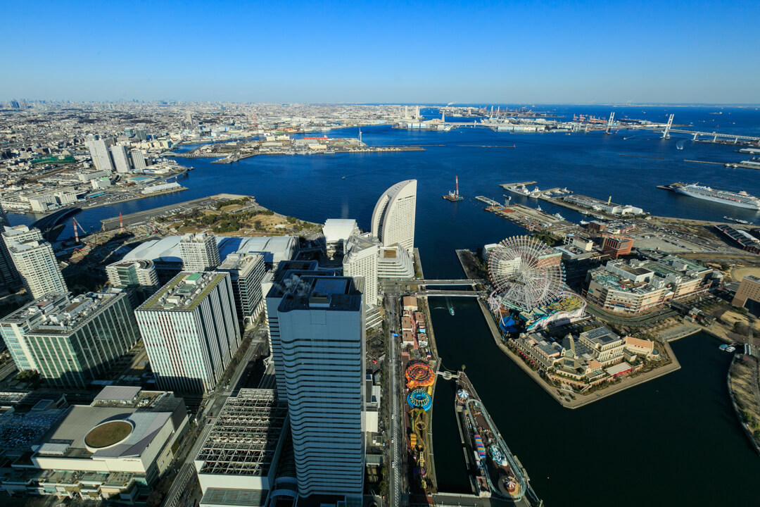 横浜ランドマークタワー東側の景色