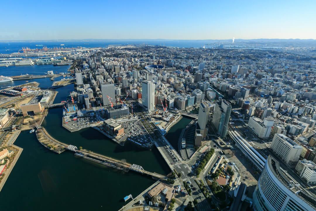 横浜ランドマークタワー南東側の景色