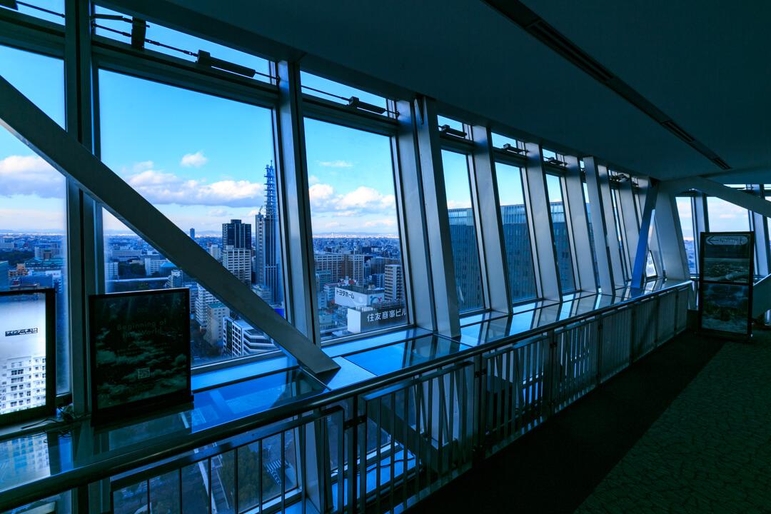 栄テレビ塔のスカイデッキの写真
