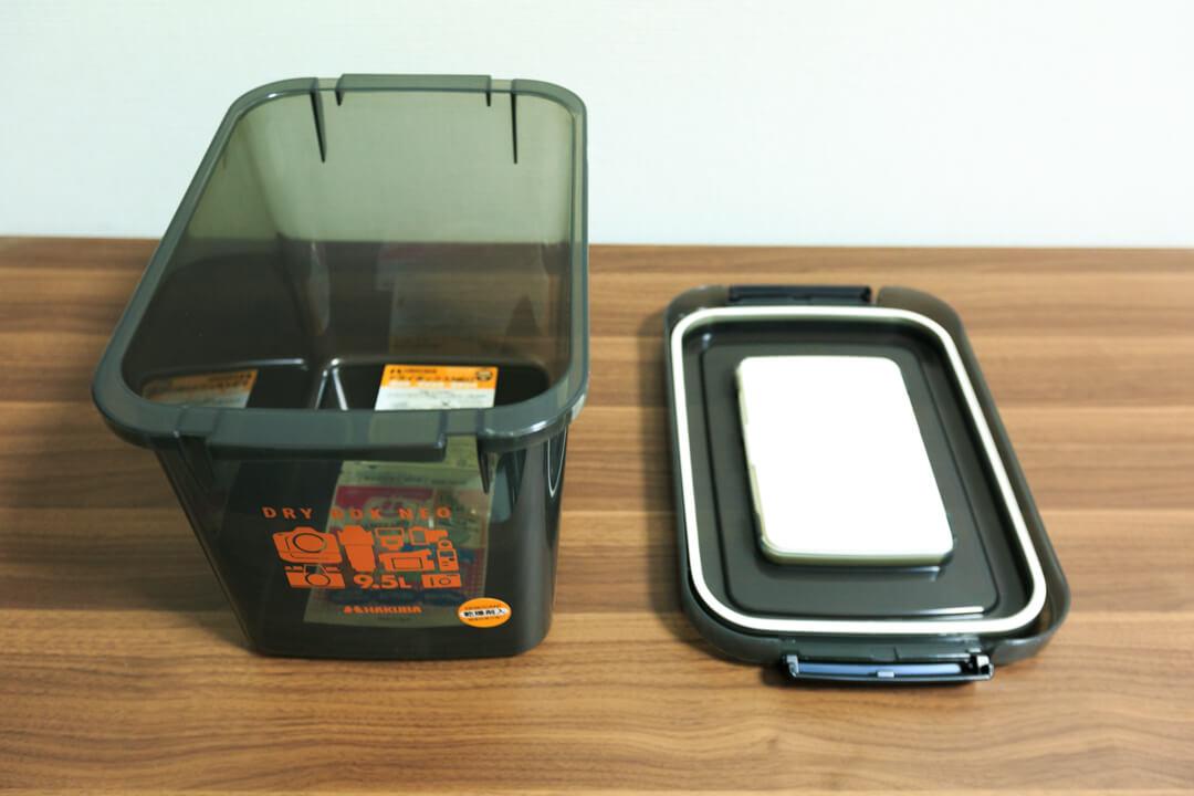 ドライボックス&防湿剤の写真