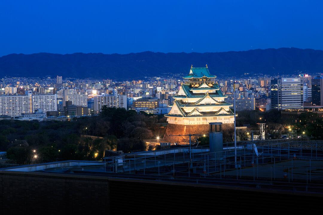 OMMビルスカイガーデンからの夜景・大阪城方面