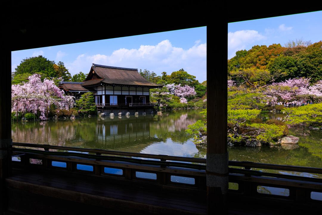 平安神宮・神苑の眺めを撮影した写真