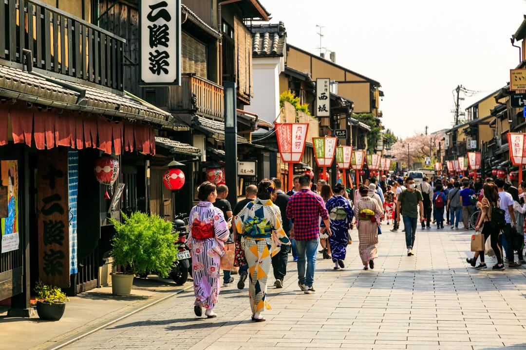 祇園の街並みの写真