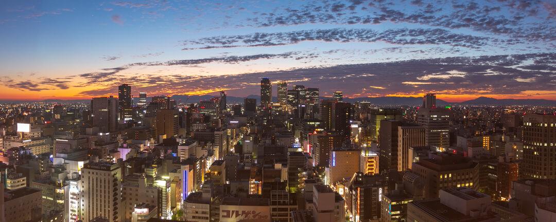 名古屋テレビ塔の展望台から撮影した栄の街並み