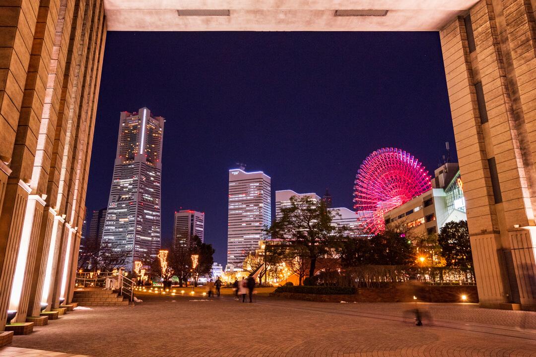 ナビオス横浜から撮影した横浜の夜景