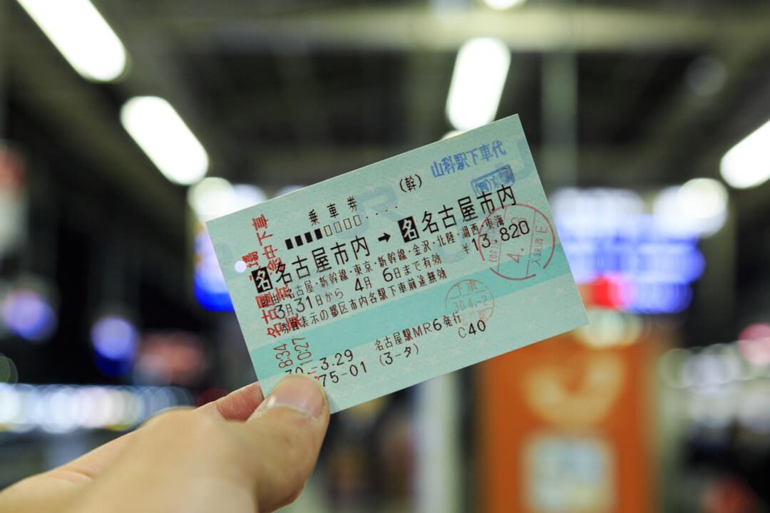 名古屋発・名古屋着の一筆書き切符の写真
