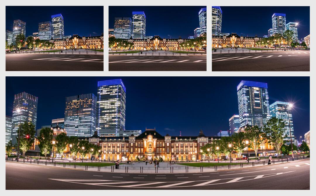 東京駅のパノラマ写真