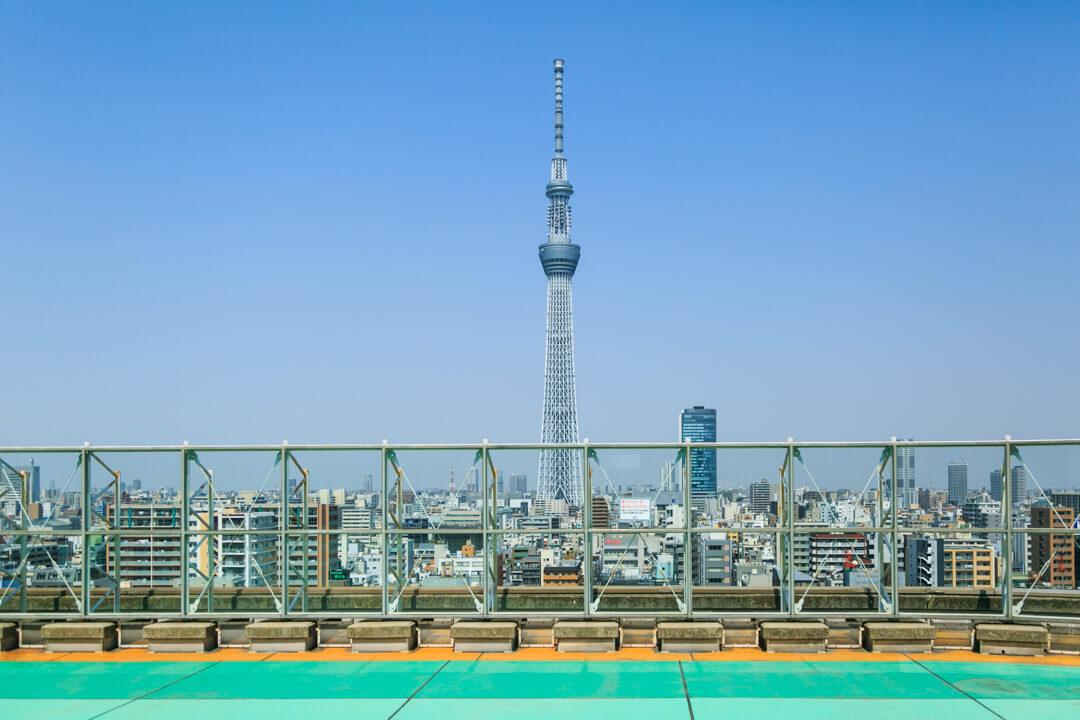 アルカキット錦糸町屋上広場から撮影した東京スカイツリーの写真