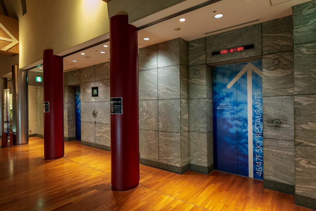 カレッタ汐留のエレベーターの写真