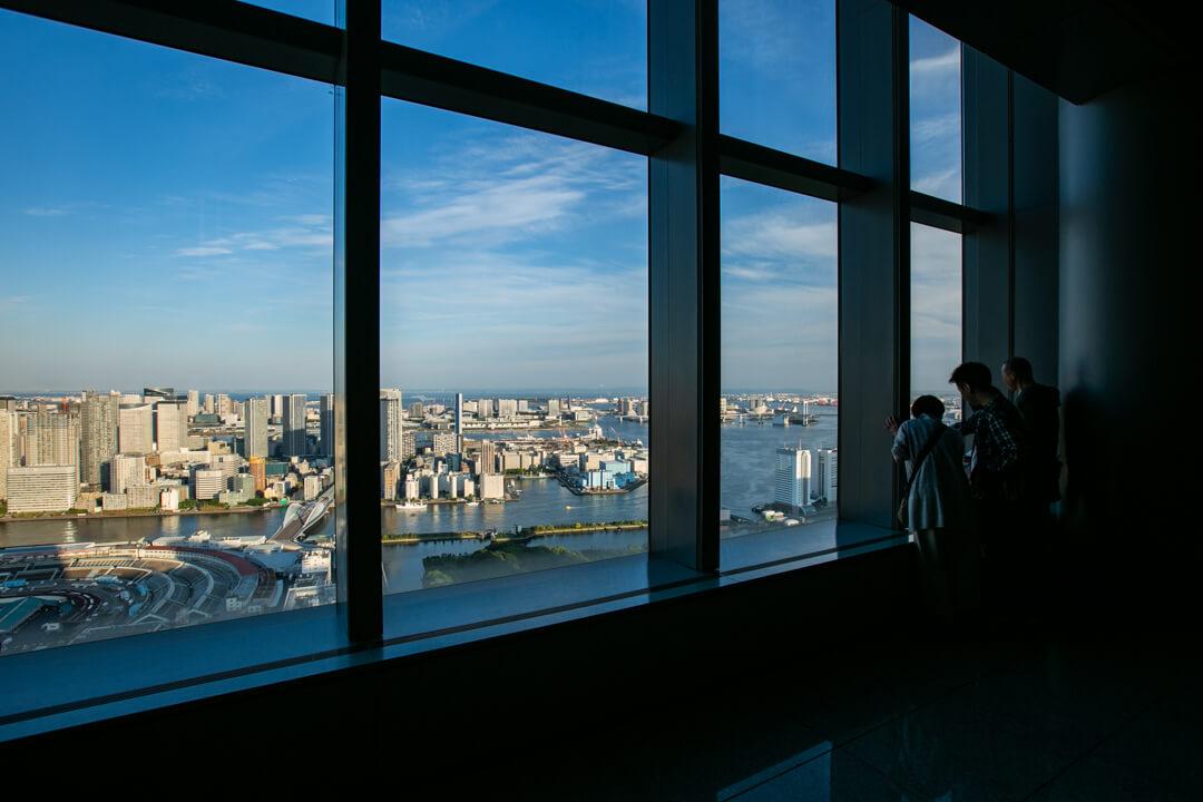 カレッタ汐留の展望台の写真