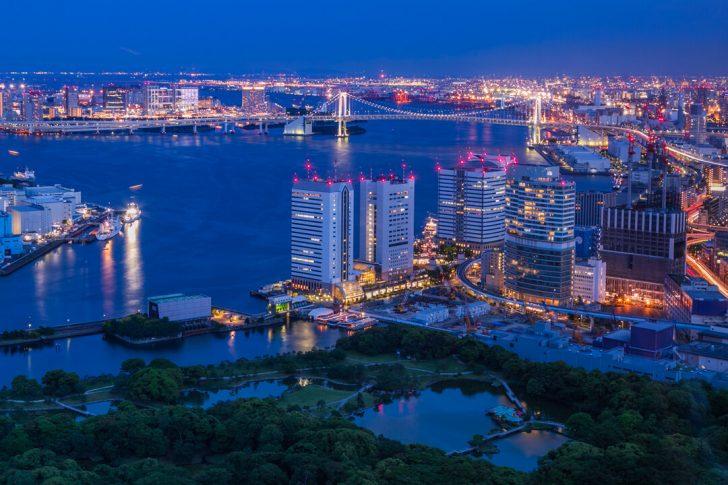 カレッタ汐留の展望台から美しい夜景を撮影してきた