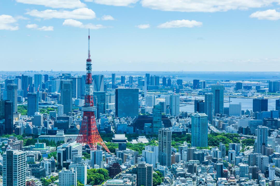 六本木ヒルズ展望台からの眺め・東京タワー