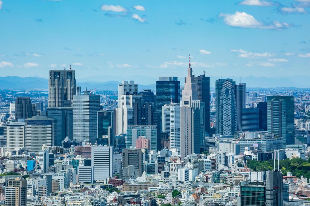 六本木ヒルズ展望台からの眺め・新宿高層ビル群