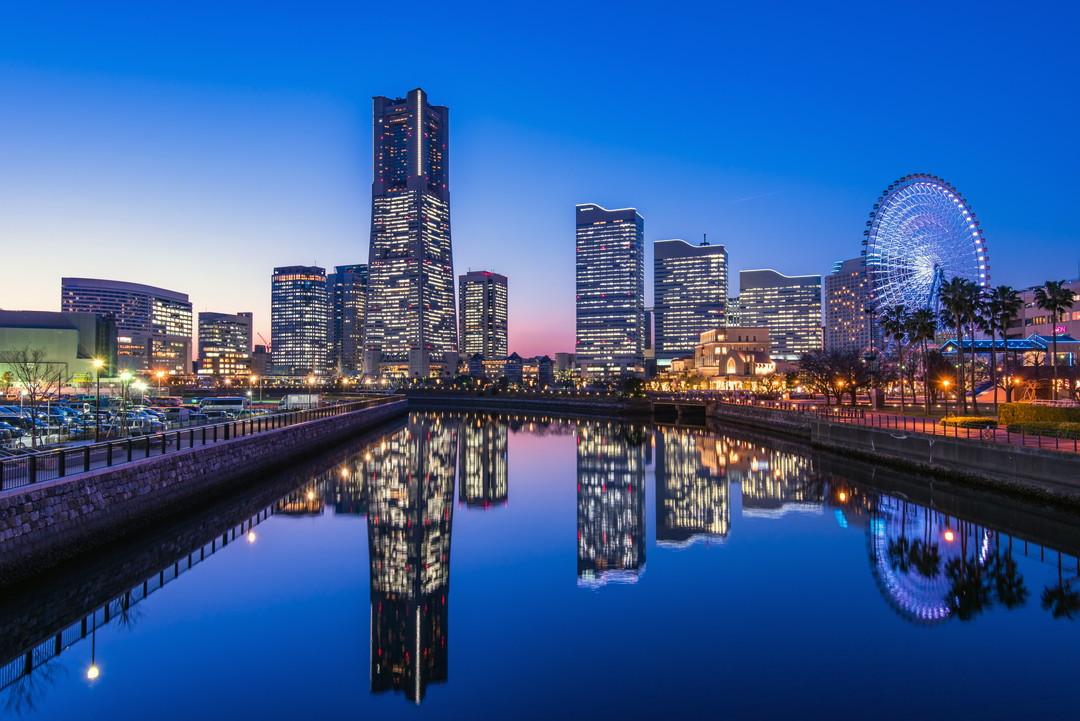 万国橋から撮影した横浜の夜景