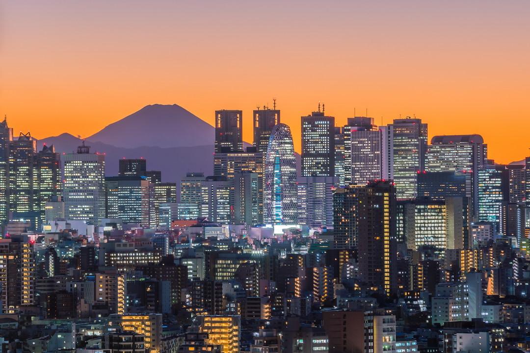 文京シビックセンターから撮影した夜景