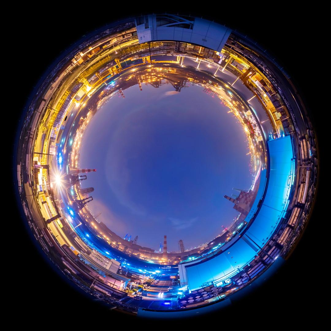 円周魚眼レンズで撮影した写真