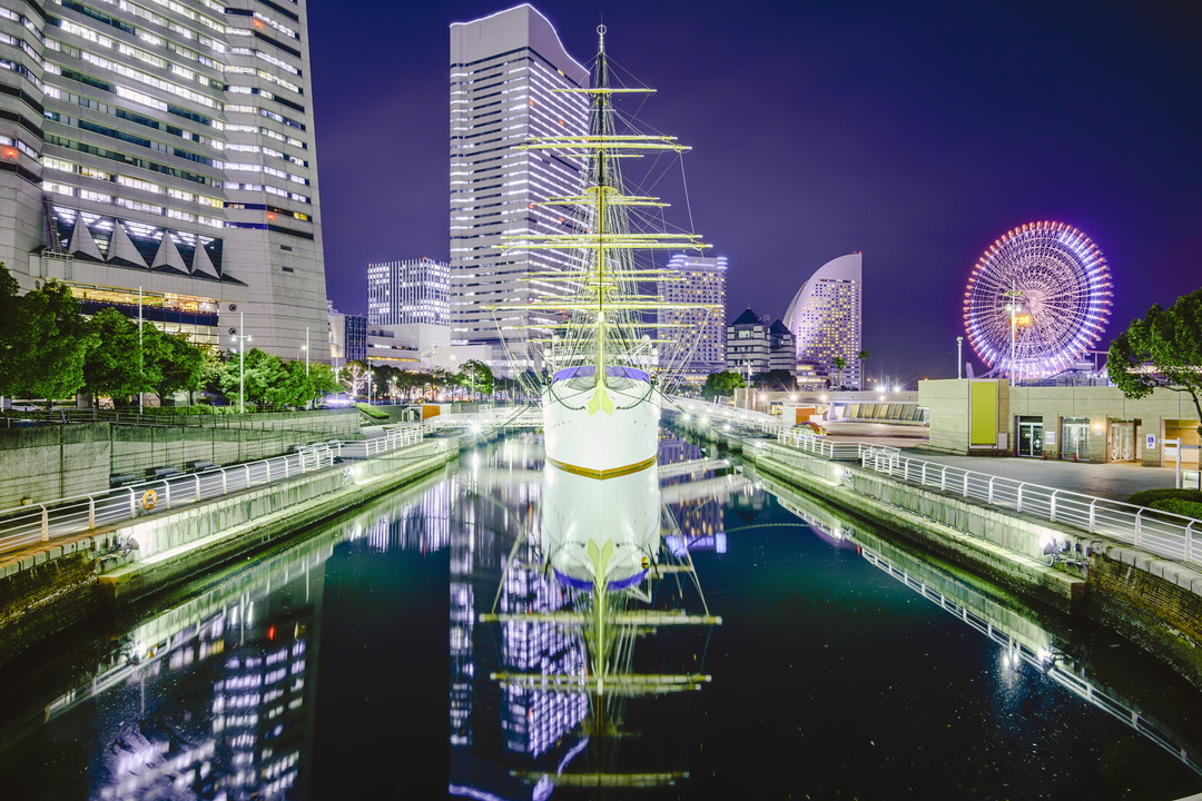 日本丸メモリアルパークの夜景