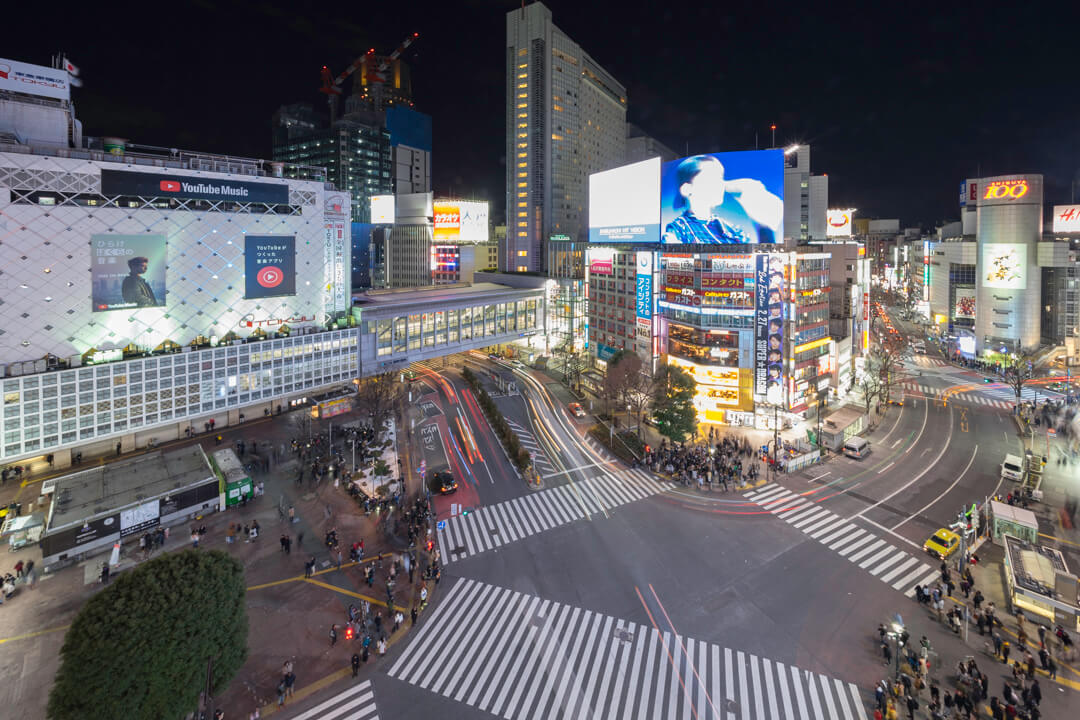 MAGNET by SHIBUYA109 「CROSSING VIEW」の夜景を撮影した写真