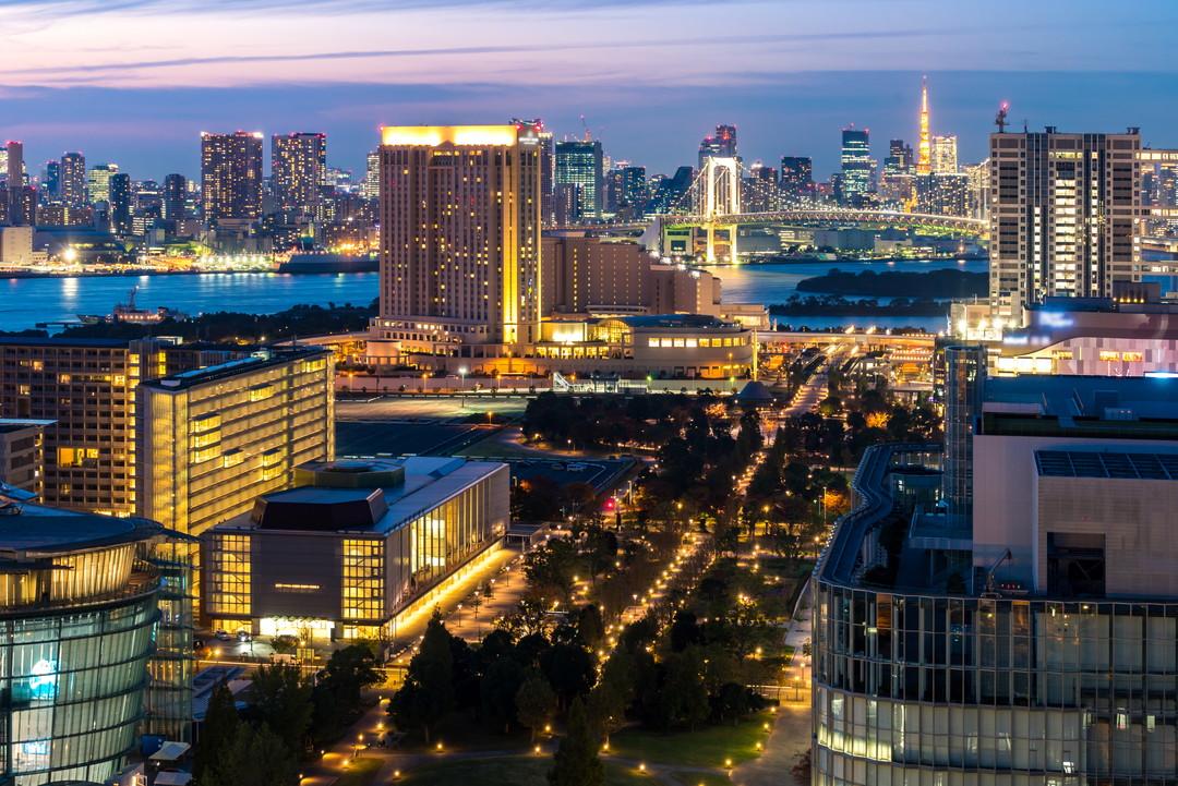 テレコムセンターから撮影した夜景