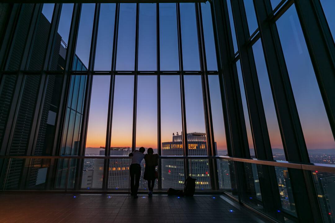 ミッドランドスクエア「スカイプロムナード」から撮影した夜景