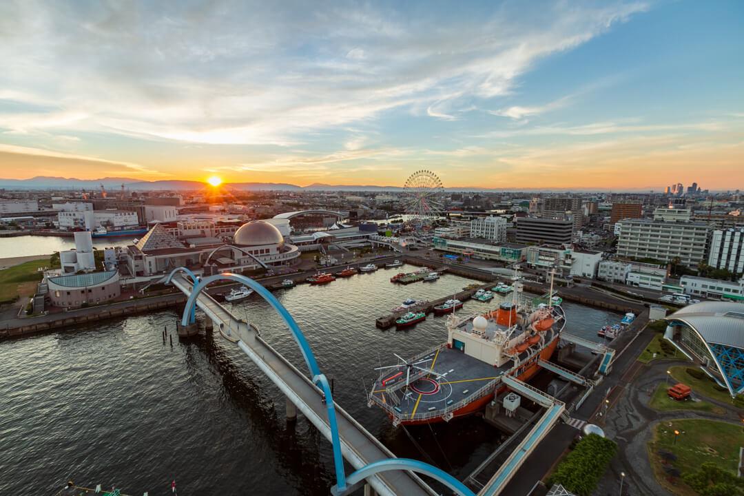 名古屋ポートタワーから撮影した夕景の写真