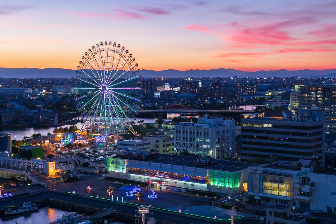 名古屋ポートタワーから撮影した夜景の写真