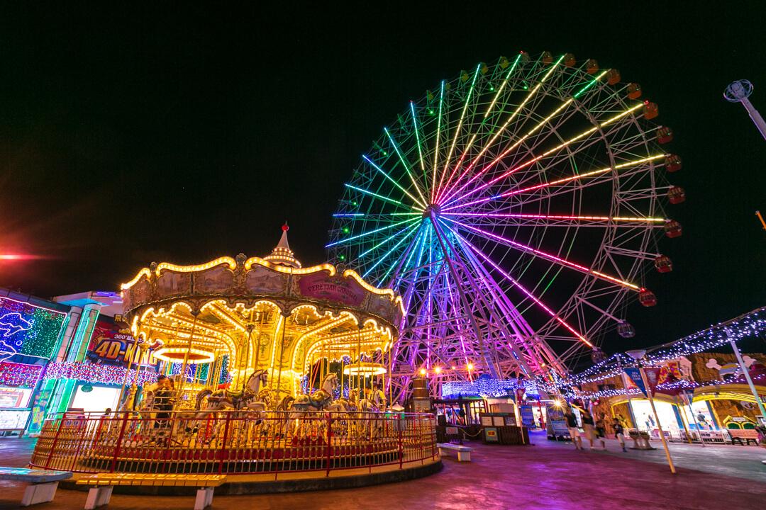 シートレインランドで撮影した夜景の写真