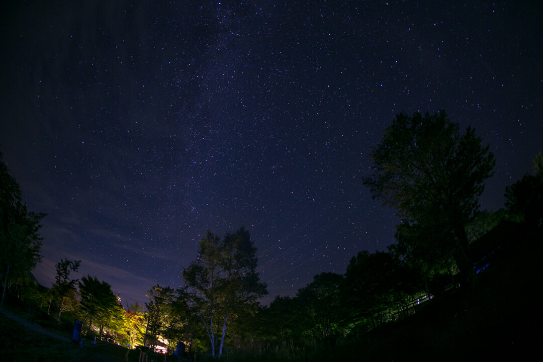 SIGMA 15mm F2.8 EX DG DIAGONALで撮影した天の川の写真
