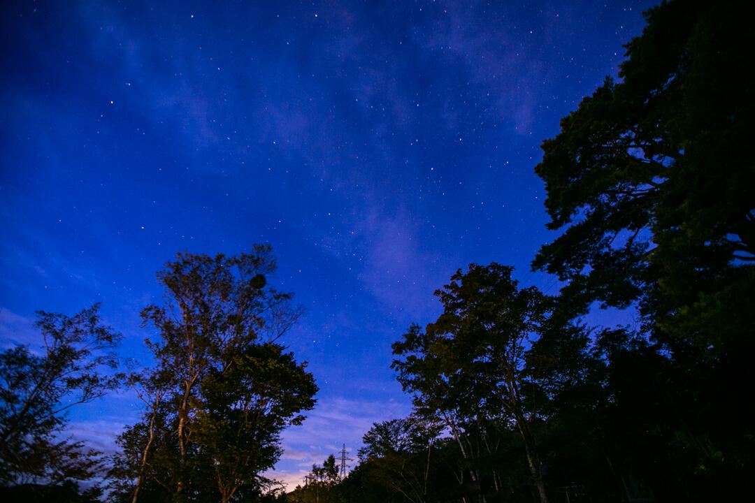 浪合パークから撮影した星空の写真