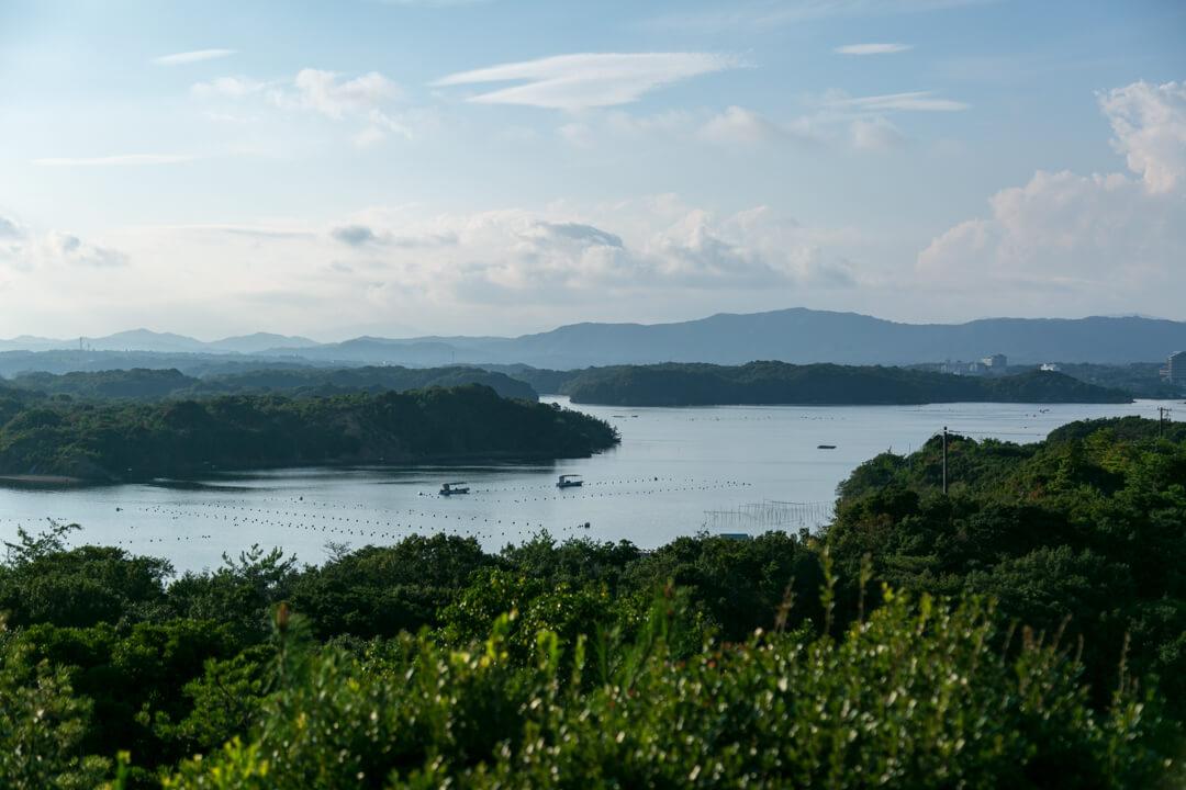 ともやま公園・桐垣展望台から撮った英虞湾の写真