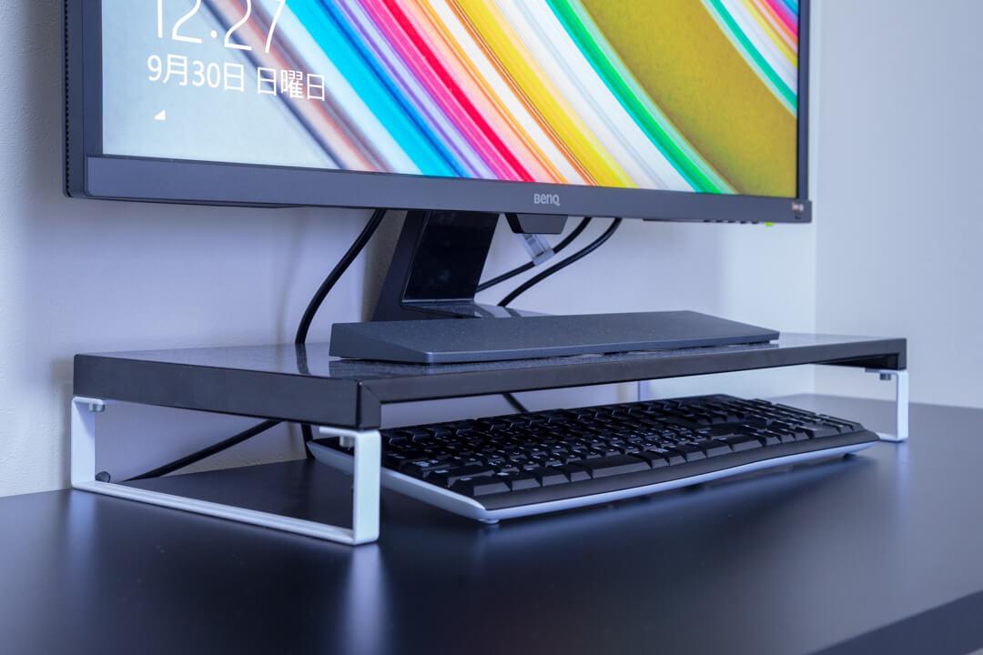PCデスク周りの便利グッズ・モニタースタンドの写真