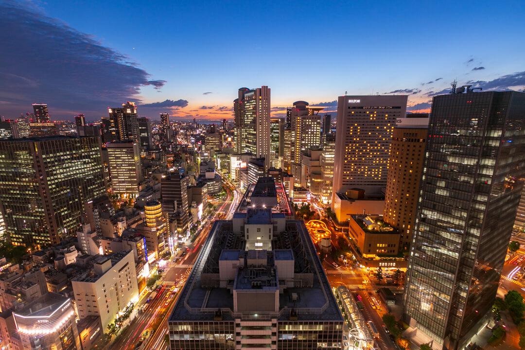 大阪駅前第3ビルから撮影した夜景